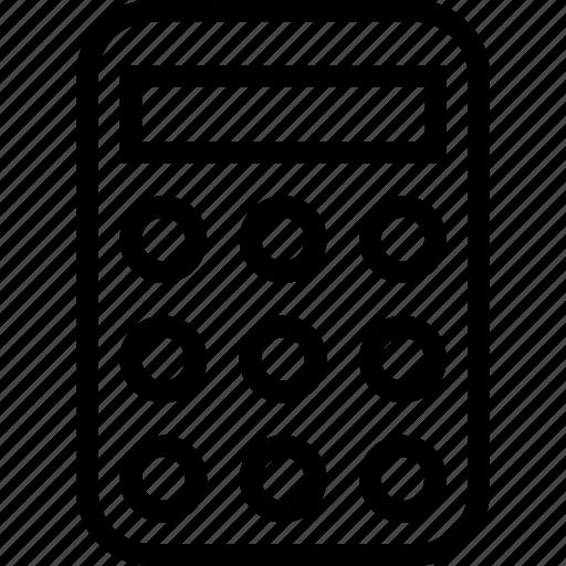 calculator, desk, math, tool icon