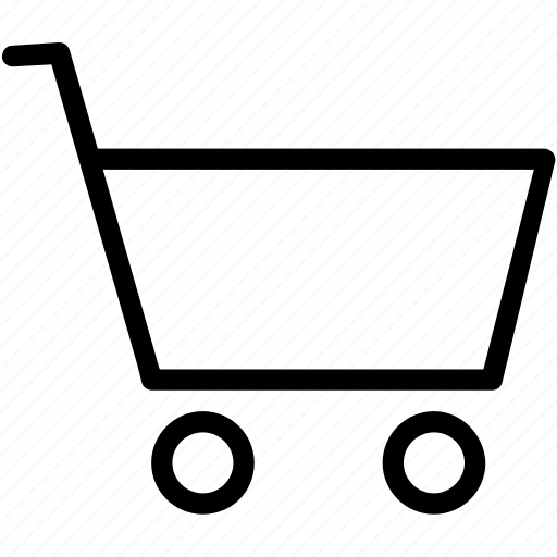 cart, plain, shoping, trolly icon