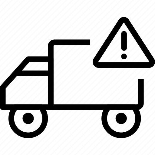 car, delivery, exclamation, truck, vehicle icon