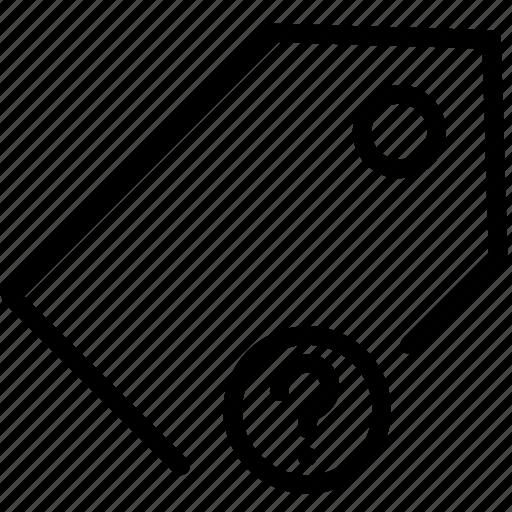 mark, price, question, tag icon