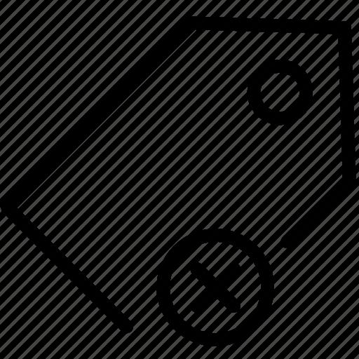 cancel, mark, price, remove, tag icon