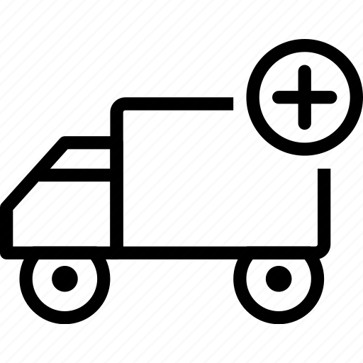 add, car, delivery, plus, truck, vehicle icon