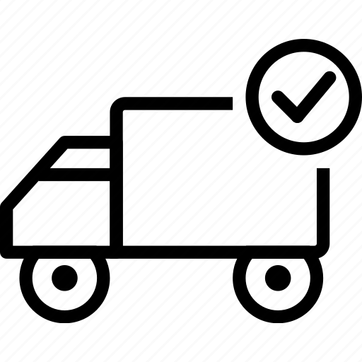 car, check, delivery, ok, truck, vehicle icon