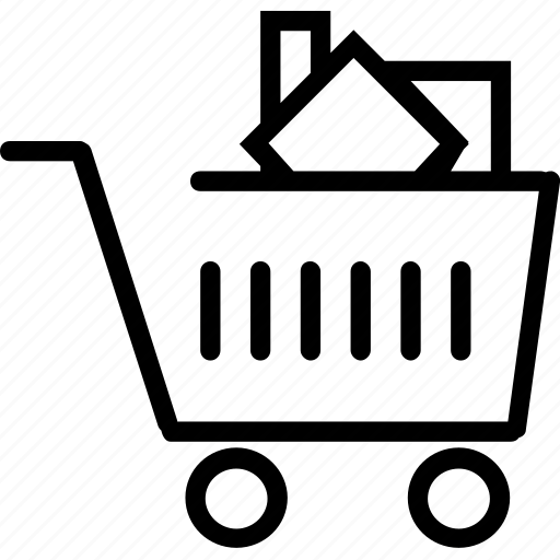 cart, full, groceries, shoping, trolly icon