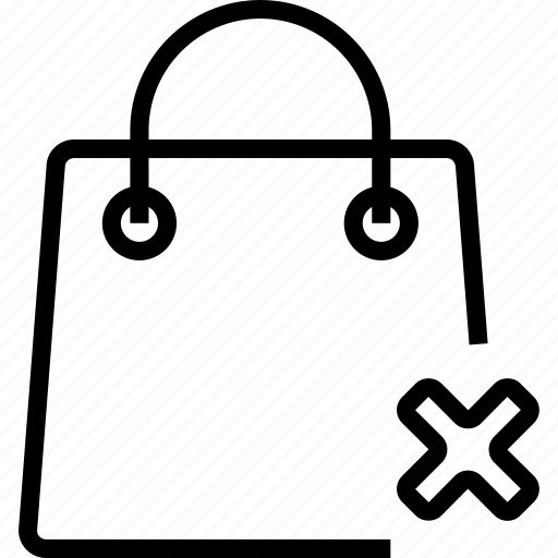 bag, cancel, remove, shoping icon