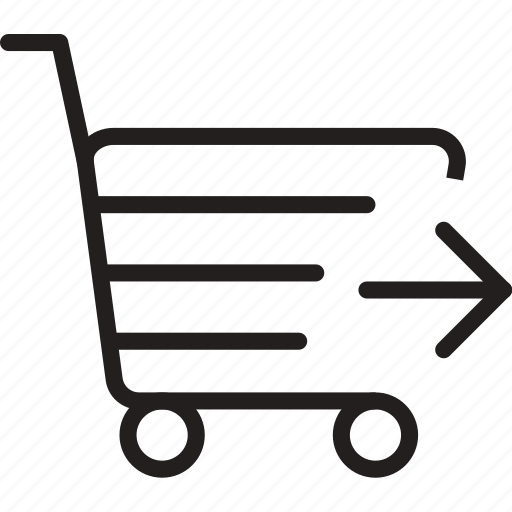 arrow, cart, market, right, shoping, trolly icon
