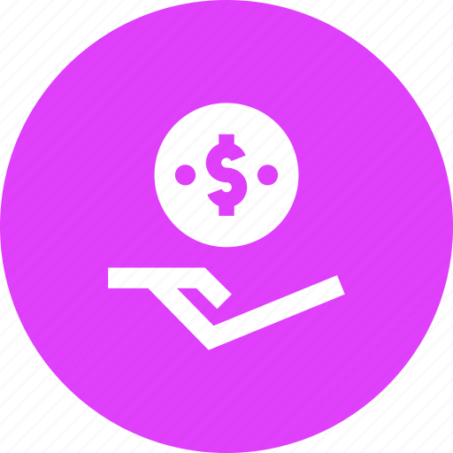 dollar, donation, funds, help, penny, receive, support icon