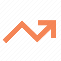 analytics, arrow, graph, growth, increase, rise, statistics icon