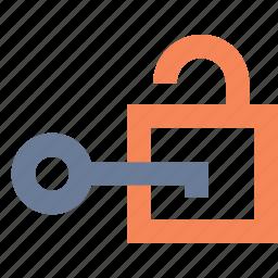 access, authentication, decryption, key, open, password, unlock icon
