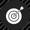 dart, goal, target icon
