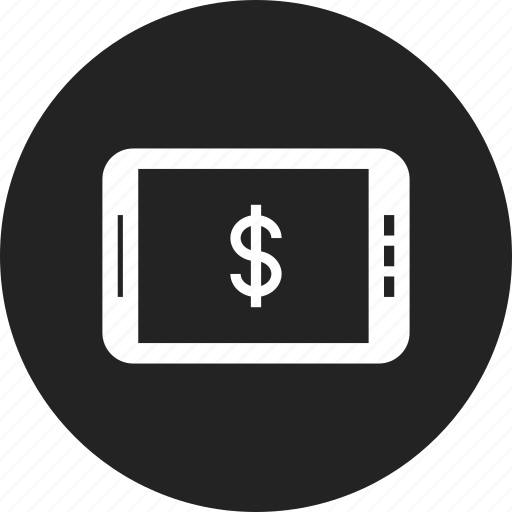bank, online, tablet icon