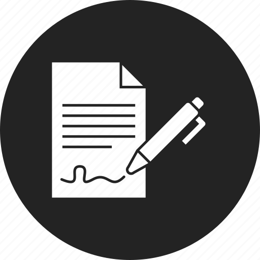 agreement, contract, document icon