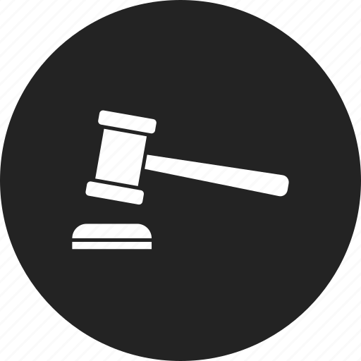 auction, gavel, judge icon