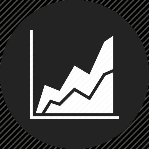 chart, diagram, line icon