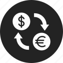 currency, exchange, money, stock icon
