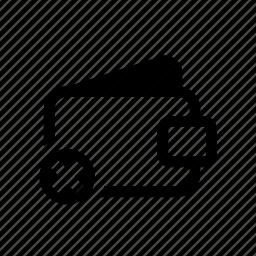 denied, e-commerce, finance, wallet, wallet denied icon