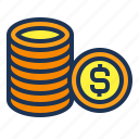 business, buy, coin, dollar, finance, money, pay icon