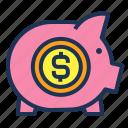 finance, invest, money, pig, safe, save