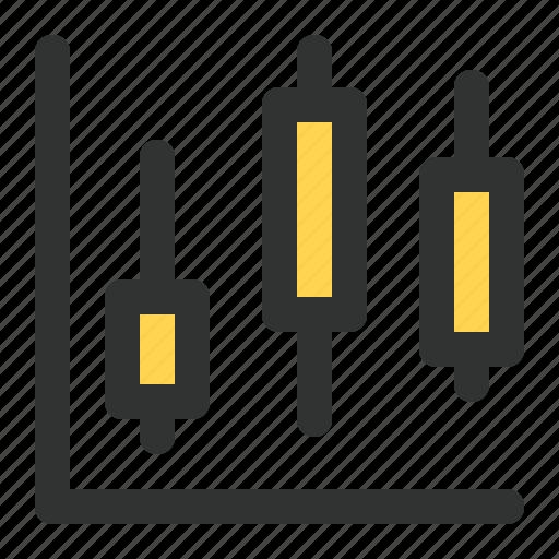 candlestick, chart, economic, finance, graph icon