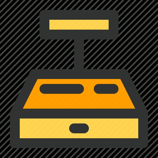cash, cashier, drawer, machine, register, teller icon