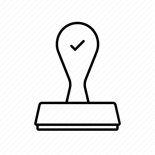approval, approve, approved, finance, rubber, stamp icon