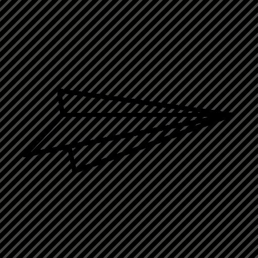 aeroplane, fly, paper, plane, send icon
