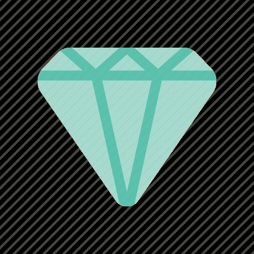 diamond, finance icon