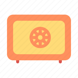 finance, safety box icon