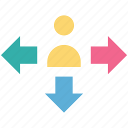 affiliate, arrows, network, user, user network icon