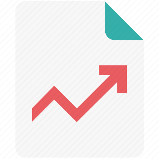 analytics, business report, graph report, growth graph, report icon