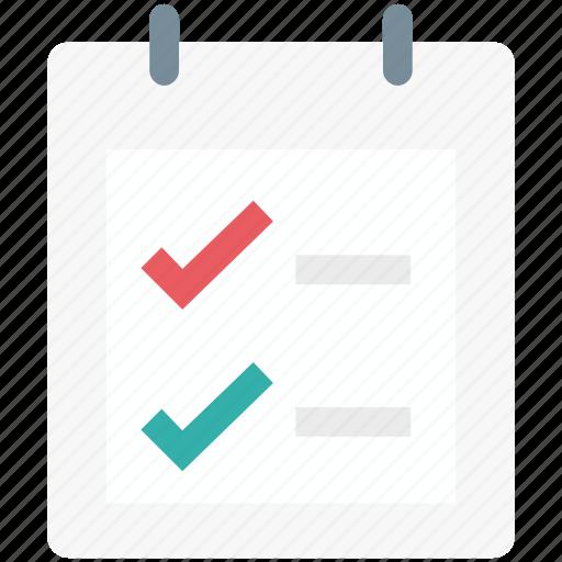 checklist, list, memo, shopping list, tick, tickmark icon