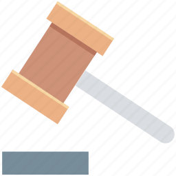 auction, court, court gavel, gavel, mallet icon