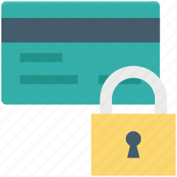 atm card security, card lock, card protected, lock, password protected icon