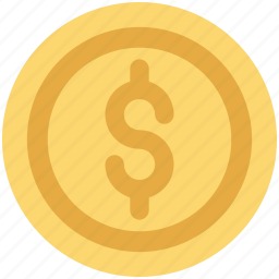 cash, currency, dollar, dollar coin, money icon