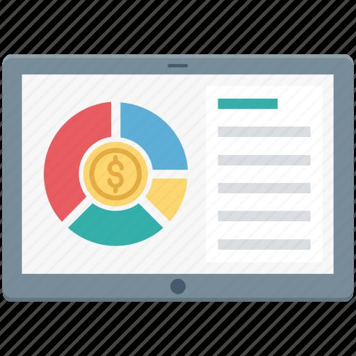 graph, online graph, pie graph, web analytics, webpage icon