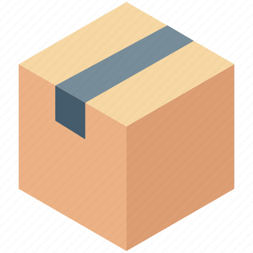 box, cardboard box, delivery box, package, parcel icon