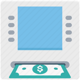 atm, atm withdrawal, banking, cash withdrawal, transaction icon