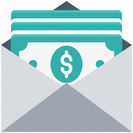 envelope, inbox, letter, mail, money envelope icon