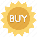 badge, buy, buy now, buy sticker, new sticker icon