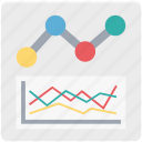 business graph, graph, line, line graph, statistics icon