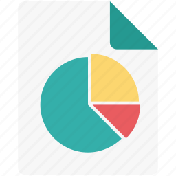 analytics, business report, graph report, pie chart, pie graph icon