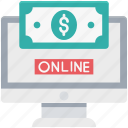 money, online banking, online business, online earning, website icon