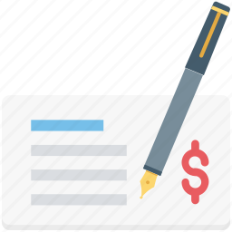 banking, bill, cashier, cheque, paycheck icon