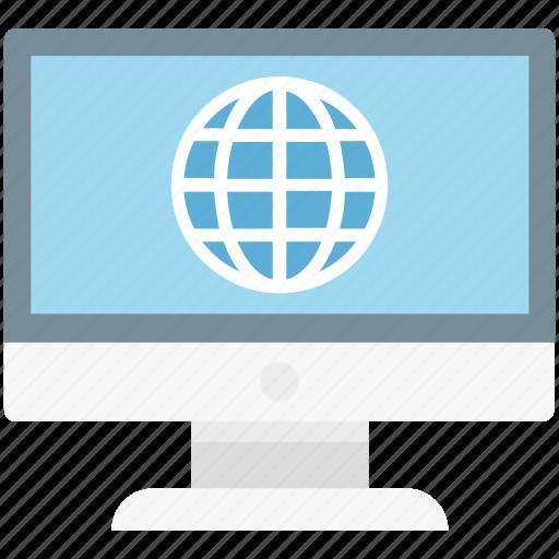 display, globe, internet, monitor icon