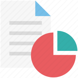 finance report, graph analysis, graph report, pie graph, sale report, stock report icon