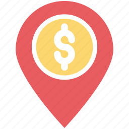 bank location, location marker, location pin, map locator, map pin icon