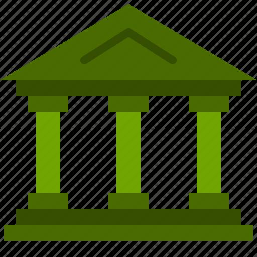 bank, city, finance icon