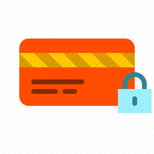 blocked, card, credit, finance, lock, payment icon