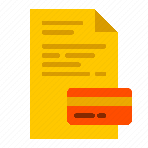 bill, card, credit, finance, money, payment icon