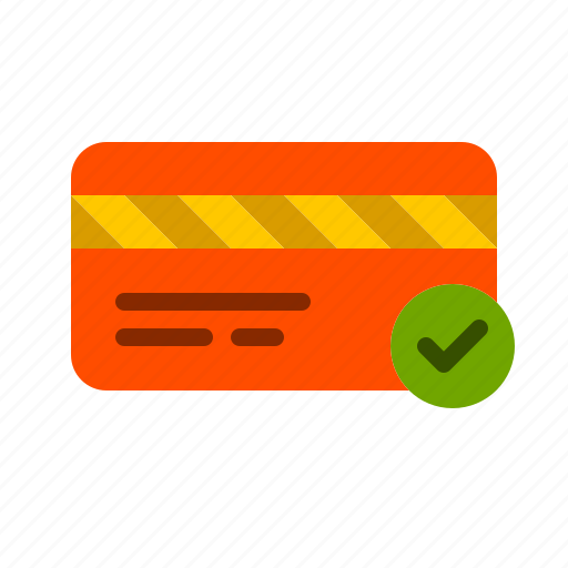 authorized, card, credit, finance, payment, transaction icon